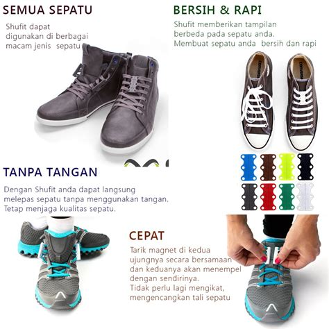 Pengikat Tali Sepatu Magnet Universal Magnetic Sport Shoelaces universal magnetic sport shoelaces tali sepatu magnet