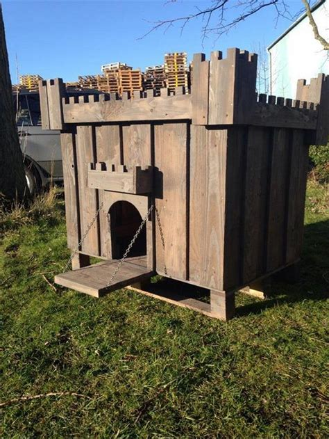 wood dog house dog house out of pallets recycled things
