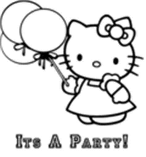 hello kitty tea party coloring pages hello kitty printable coloring pages and invitations
