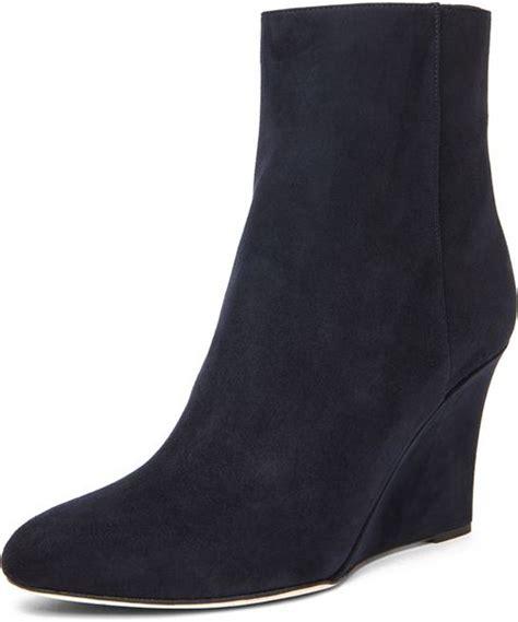 jimmy choo mayor 85mm wedge ankle boot in blue navy lyst