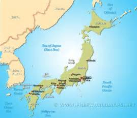 map of the world japan japan map free large images
