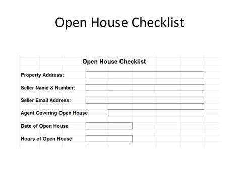 open house checklist the checklist manifesto for real estate