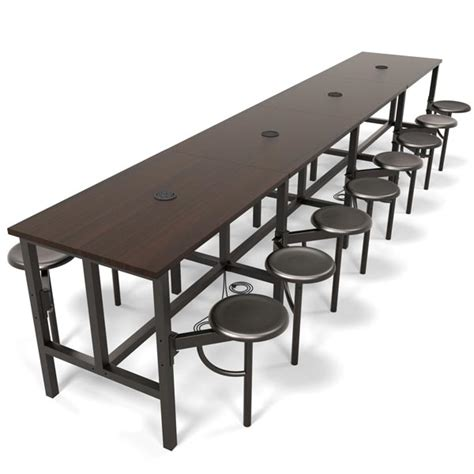 standing l with table ofm endure standing height table with 16 seats 9016
