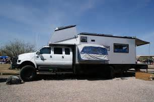 Vehicle Awning 4x4 Huge Ford F650 Overbilt Extended Crew Cab Box Camper
