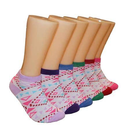Print Low Socks 480 units of s tribal print low cut ankle socks at