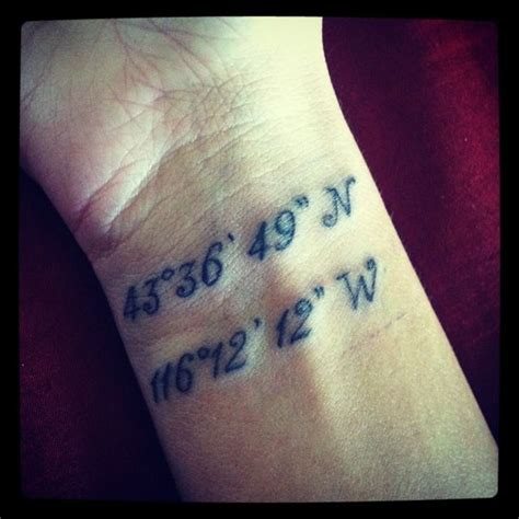 coordinates tattoo 18 stylish coordinate wrist tattoos