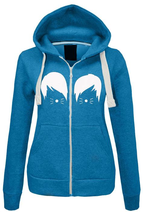 Hoodie Jumper Dan Zipper womens dan and phil hoodie zipped sweatshirt top jumper hooded jacket ebay