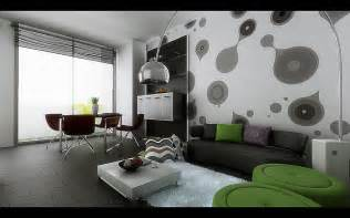 Living Room Modern Wall Living Dining Inspiration