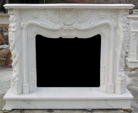 french inspired marble fireplace mantel  surround heavy carvings ebay