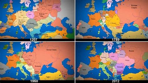 how the world map has changed animated map of europe from 1000ad to present day