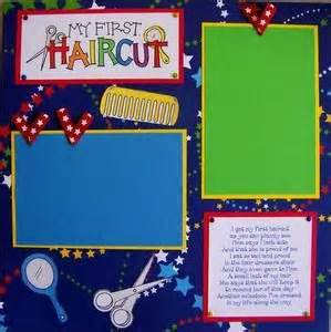 scrapbook layout for first haircut pinterest the world s catalog of ideas