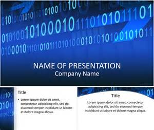 binary code powerpoint template templateswise