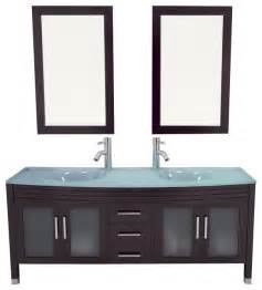 Bathroom Vanity Cabinets Glass Top 63 Quot Grand Regent Large Sink Modern Bathroom Vanity