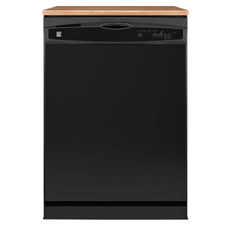Kenmore Drawer Dishwasher by Kenmore 17749 24 Quot Portable Dishwasher Black Sears