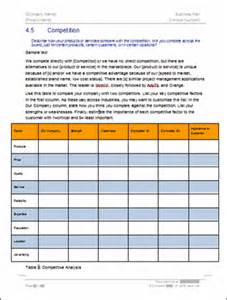 Business Plan Analysis Template by Business Plan Template Writing Tips