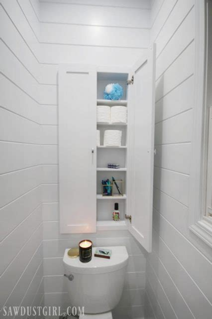 Recessed Wall Cabinet for Toilet Paper Storage   Sawdust Girl®