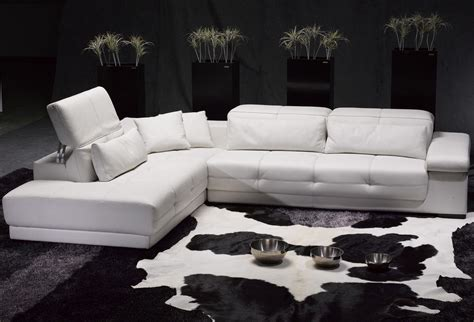 White Leather Sectional Sofa home furniture living room furniture sofas lc white