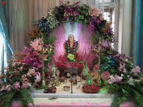 Flower Decoration For Home Pin Ganpati Decoration Ideas On Gharguti Makhar Home On
