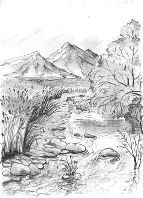 gratis obraz na pixabay rysunek gory olowek zatoczka