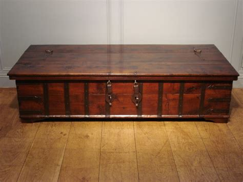 sold antique decorative trunk or coffee table antique