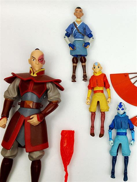 Figure Water Tribe Sokka From Avatar Matel Production avatar the last airbender figure lot aang sokka zuko roku what s it worth