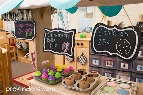 Kitchen Themes Decorating Ideas by Bakery Dramatic Play Prekinders
