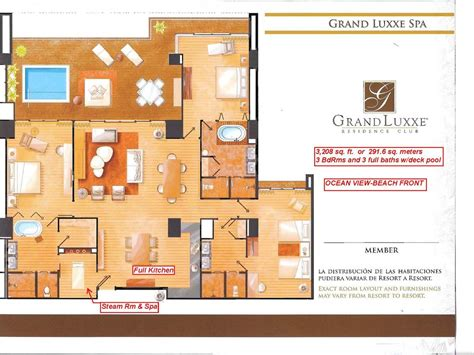 grand luxxe spa tower floor plan budget nuevo vallarta vacation rentals from 114
