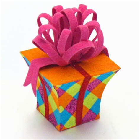 brighten the birthday with colorful designer present
