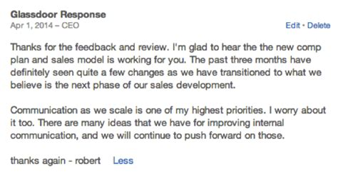 glass door employer reviews 5 ceo responses on glassdoor worth reading