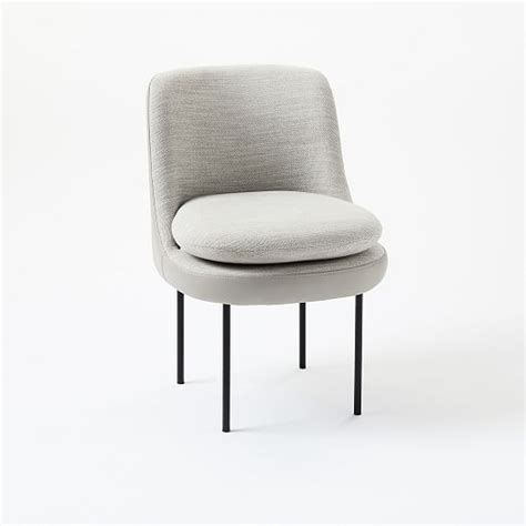 Modern Curved Leather Back Dining Chair West Elm Curved Leather Dining Chair