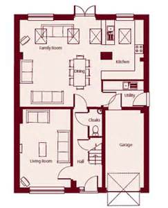 Kitchen Dining Family Room Floor Plans by Floor Plans For The Frampton Plus House Type Charfield