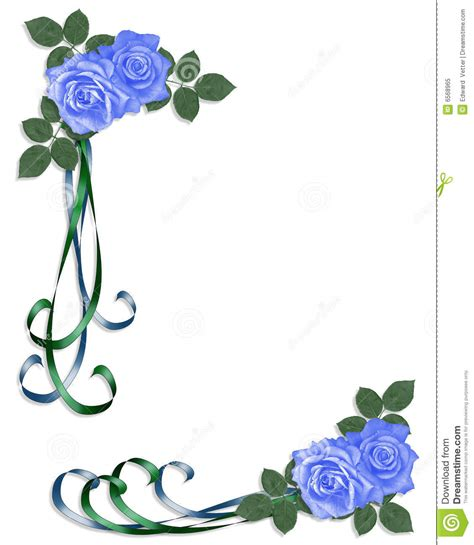 7776 Rossa Bordir esquina azul de las rosas de la invitaci 243 n de la boda foto