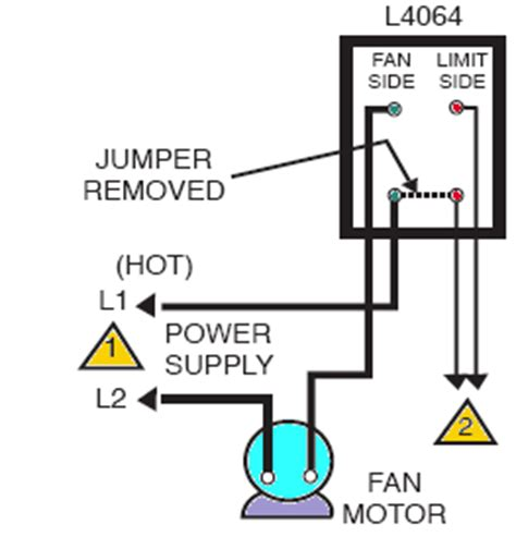 honeywell fan limit switch wiring diagram how to install wire the fan limit controls on furnaces