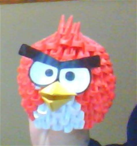 Angry Birds Origami - angry birds origami 3d modular by ncangussu on deviantart
