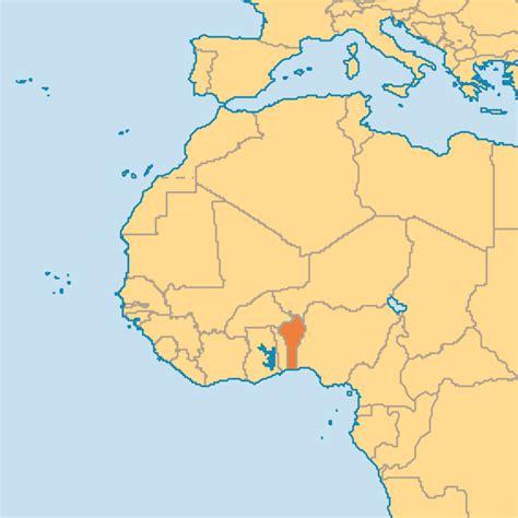 benin on the map benin operation world
