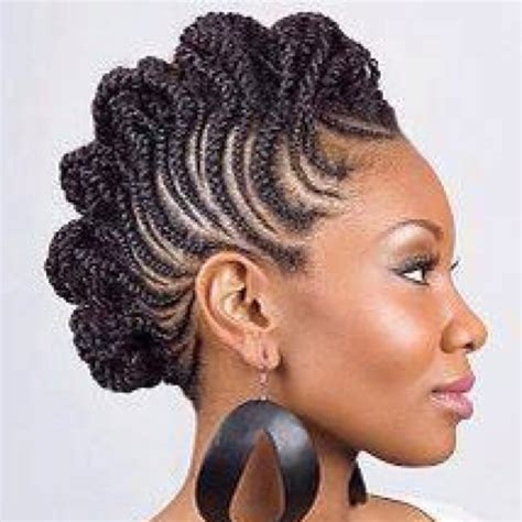 mohawk cornrow designs rolled cornrow mohawk hair nails make up and beauty
