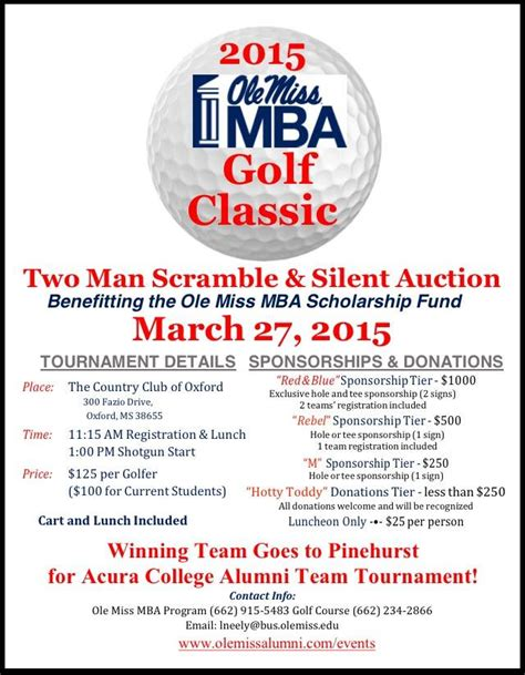 Ole Miss Mba Golf Tournament by School Of Business News 2015 March