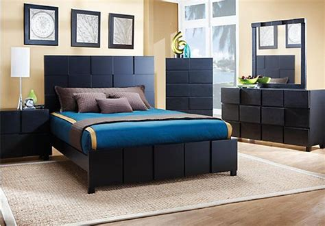 shop for a roxanne black 5 pc bedroom at rooms to go