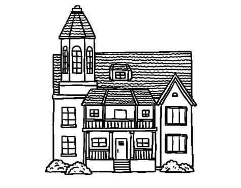 desenho de casas desenho de casa de dois andares torre para colorir