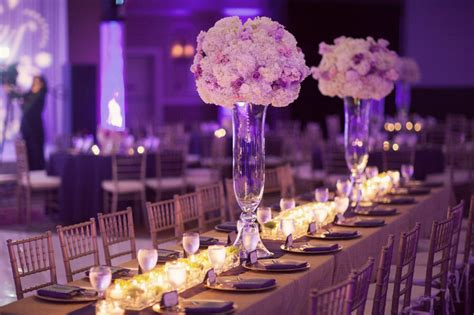 beautiful table centerpieces purple wedding centerpieces with stylish wedding
