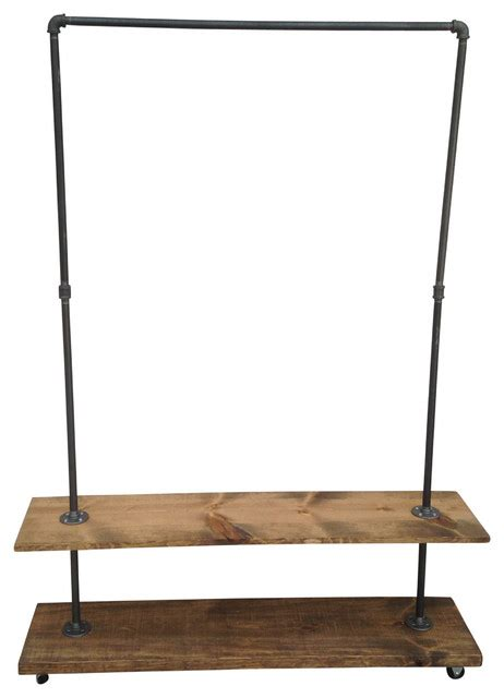 Shelf Clothes Rack by Industial Garment Rack With Bottom Shelf