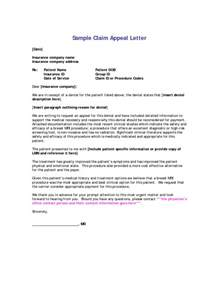 Insurance Appeal Letter For Timely Filing Insurance Appeal Letter Template Letter Template 2017