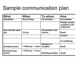 comms plan template 9 communication plan template