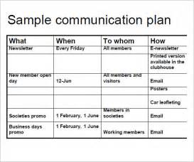 template for communication plan 9 communication plan template