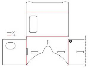 cardboard template cardboard build it yourself