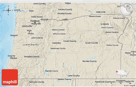 3d map of oregon shaded relief 3d map of oregon