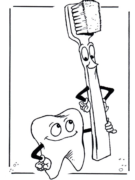 free coloring pages of toothbrush