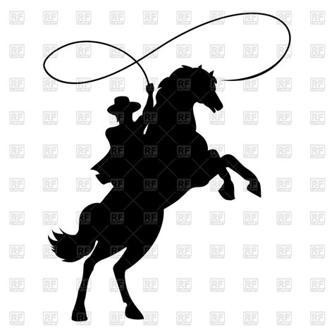 cowgirl silhouette vector free download two beautiful cowboy silhouette with rope lasso on horse royalty free