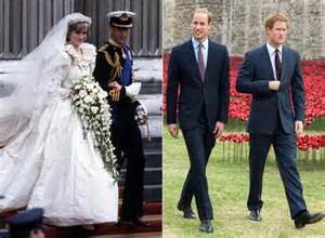 princess diana s sons princes william harry to get princess diana s wedding