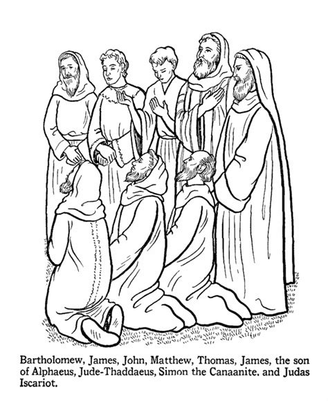 coloring pages of jesus and his disciples twelve disciples coloring page coloring home